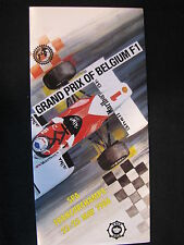 Flyer Formula 1 Grand Prix of Belgium 1986 Spa-Francorchamps (PBE)