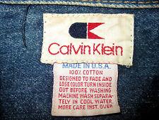 Vintage Calvin Klein Jean Jacket Medium Wash M? Made in USA