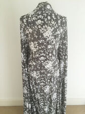 Black and White Chalky Floral Design on Viscose Lycra Jersey Dressmaking Fabric