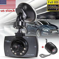 "1080P 2.7"" FHD LCD Dual Lens Car Dash Camera Video DVR Cam Recorder Night Vision"
