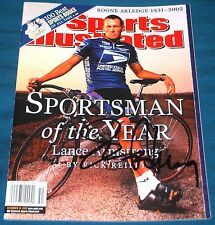 Lance Armstrong Autographed Signed Authentic Sports Illustrated No Label USPS c