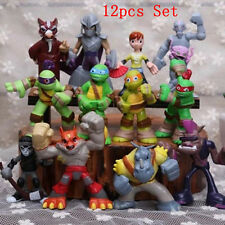 New 12pcs Set Teenage Mutant Ninja Turtles TMNT Classic Action Figures Kids Toys
