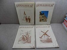 Généalogie 62 Année complète 1988 Revue Association Généalogique PAS-DE-CALAIS