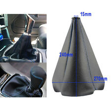 Black Blue Leather Stitch Manual/Auto Gear Shift Boot Anti-dust Cover Universal