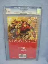 New Avengers #25 (Dec 2006, Marvel) CGC Graded 9.6 CIVIL WAR - IRON MAN