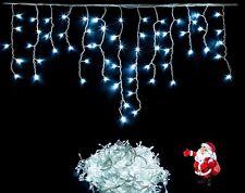 300 LEDs  Eisregen Eiszapfen Lichterkette Ihnen/Außen Weihnachten kaltweiß IP44