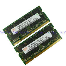 New Hynix 4GB 2X 2GB PC2-6400 DDR2 DDR2-800MHZ 200pin Sodimm Laptop Memory