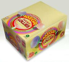 MEGA DOUBLE LOLLIES X 36, FULL BOX RETRO SWEET PICK N MIX PARTY BAGS FAVOURS