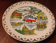 Vintage Japan Porcelain MISSISSIPPI STATE COLLECTOR PLATE Souvenir