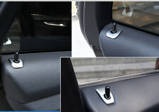 Steel Matt Interior Door lock pins cover trim 4pcs For BMW X5 E70 2009-2013