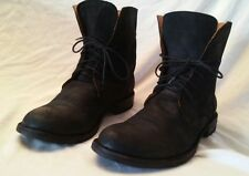 FIORENTINI+ BAKER MEN BLACK LEATHER RIDING BIKER COMBAT BOOTS MADE ITALY SIZE 12