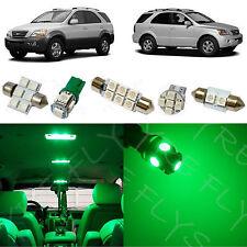 11x Green LED lights interior package kit for 2003-2008 Kia Sorento KS2G