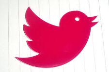 Kawaii Cute 80s Twitter Bird Charm Cabochon Hot Pink Kitsch Big