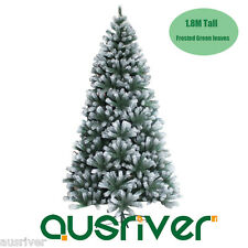 6FT 1.8M Christmas Xmas Tree Frosted Green 841 Tips Easy Assembly Jupiter FRO180