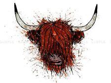 HIGHLAND COW PORTRAIT PICTURE ART PRINT POSTER JT010A