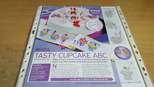 CROSS STITCH CHART CUPCAKE ALPHABET ABC CUTE CAKES CANDLE CHERRY LETTERS