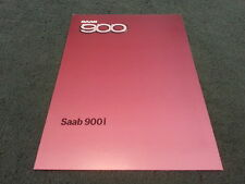MINT 1985 Model SAAB 900 900i 2 3 4 5 DOOR - UK COLOUR FOLDER BROCHURE