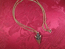 "Solid Copper Arrowhead Charm 18"" Chain"