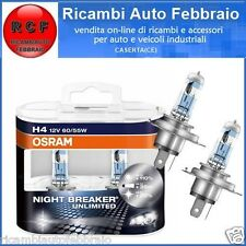 COPPIA LAMPADE OSRAM H4 12V 55W NIGHT BREAKER UNLIMITED EX PLUS +LUCE 64193NBU