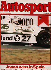 Autosport 5 Jun 1980 -  Spanish Grand Prix Jones, Acropolis Rally, Cadwell Park
