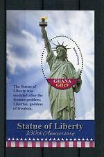 Ghana 2016 estampillada sin montar o nunca montada Estatua de la libertad 130th aniversario 1v S/S sellos de arquitectura de Nueva York
