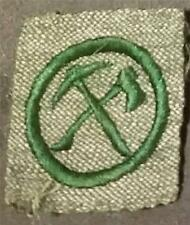 1928-1933 Girl Scout Badge PIONEER- GREY GREEN SQUARE