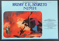 FOTOBUSTA 1 B, BRISBY E IL SEGRETO DI NIMH The Secret of NIMH, DISNEY POSTER