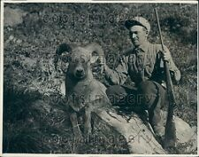 1931 Big Game Hunter Taxidermist Clyde Cobb of Kalispell Montana Press Photo
