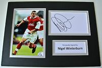 Nigel Winterburn SIGNED autograph A4 Photo Mount Display Arsenal Football COA