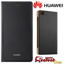 Custodia Smart Cover ORIGINALE HUAWEI Per P8 Lite Flip Case in Pelle NERA Slim