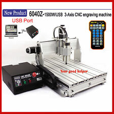 New! USB Mach3 3axis 6040 1500W CNC ROUTER ENGRAVER MILLING/ ENGRAVING MACHINE