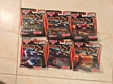 CARS Disney Pixar Target EXCLUSIVE Neon Racers With Metallic Finish Deco Lot Set