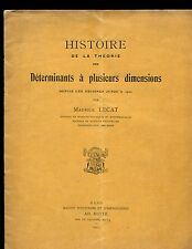 LECAT, Maurice. HISTOIRE DE LA THEORIE (THEORIE) DES DETERMINANTS