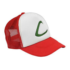 Pokemon Ash Ketchum Red Hat Cap Trainer Cosplay Fancy Dress Halloween Costume