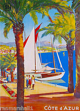 Cote d' Azur French Riviera France European Travel Advertisement Poster 2