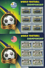 Liberia 2014 MNH World Football Championship Brazil 192v on 32 Sheets Germany