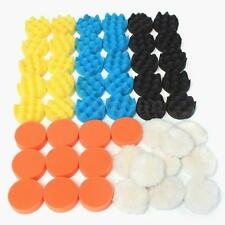 "50Pcs 8cm 3"" Inch Durable Polishing Buffing Buffer Pad Kit For Auto Car Polisher"