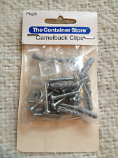 The Container Store Camelback Mounting Anchor Clips Package of 6