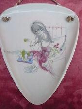 schönes,altes Porzellan-Wandbild____Alka -Kunst__50ger Jahre___!