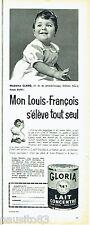 PUBLICITE ADVERTISING 016  1957  Lait Gloria  Louis-François Claro à Douai