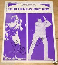 CILLA BLACK P.J. PJ PROBY HAND SIGNED UK 1965 PROGRAMME UACC REGISTERED DEALER