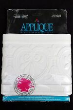 "New 3D Applique by Imperial White Paintable Wallpaper Border 6.75"" x 15' Hearts"