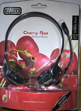 Sweex HM152  Neckband Over-The-Ear PC Headset Cherry Red