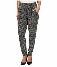 HUE - Relaxed Rayon Jersey Pop Abstract Leggings - Black - Sz SMALL - New w/tag