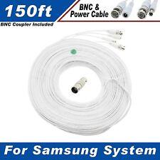 WHITE PREMIUM 150Ft CCTV SURVEILLANCE CABLES FOR SAMSUNG SDS-P5122, P5082, P3042