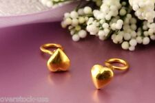 SMART Pure 24K Yellow Gold Stud Earrings / Heart Earrings 0.60g