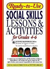 Ready-to-Use Social Skills Lessons & Activities for Grades 4 - 6 Begun, Ruth We