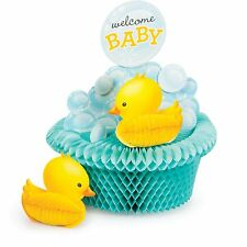 Baby Shower, Rubber Duck Bubble Bath Theme, Table Decoration 'Welcome Baby' Cute