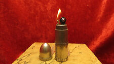 VINTAGE  AUER ALUMINUM  BULLET LIGHTER  MADE IN CANADA USED AND WORKING