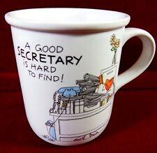 Secretary Coffee Cup/Mug ¡ A Good Secretary is Hard to Find !  Stoneware